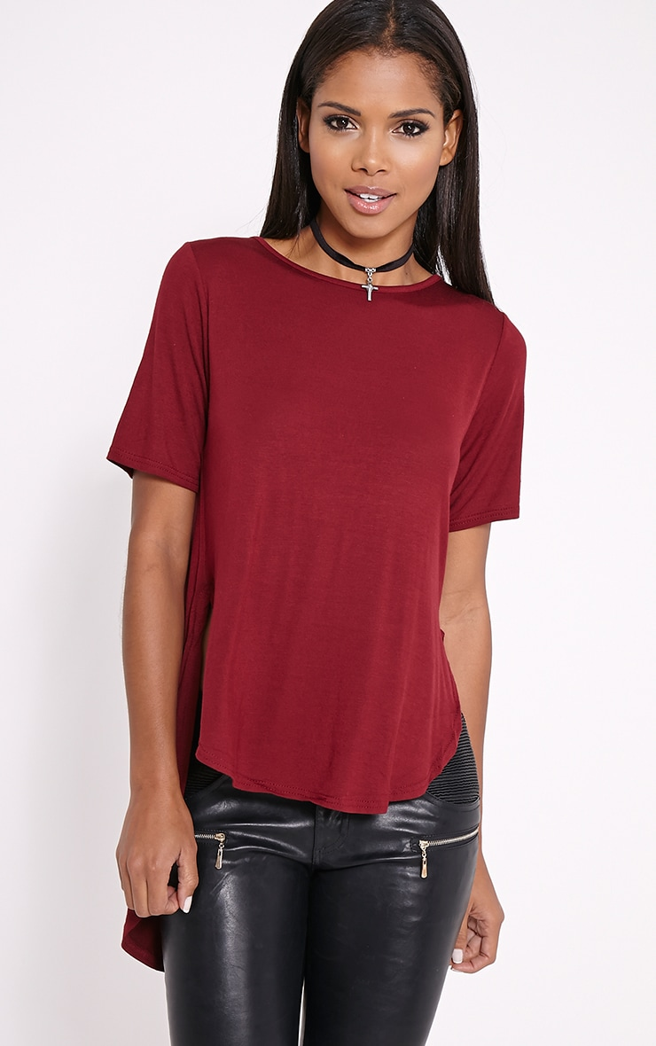 Ashby Wine Strap Back Jersey T-Shirt 4