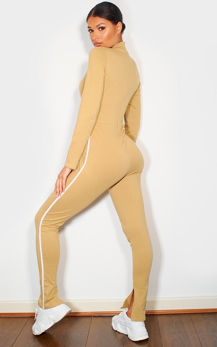 Camel Sports Stripe High Neck Jumpsuit 2