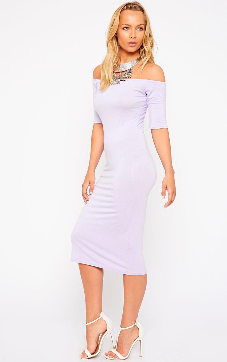Roxie Lilac Bardot Midi Dress 4