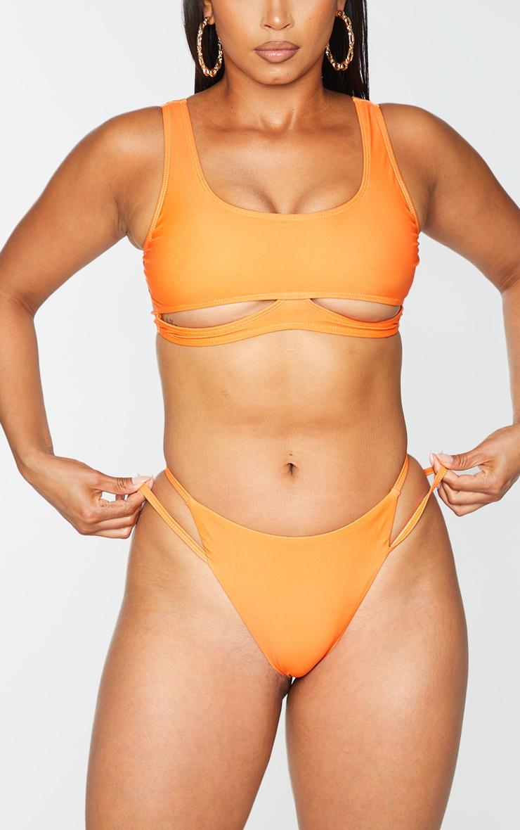 Orange Double Strap Bikini Bottoms 4