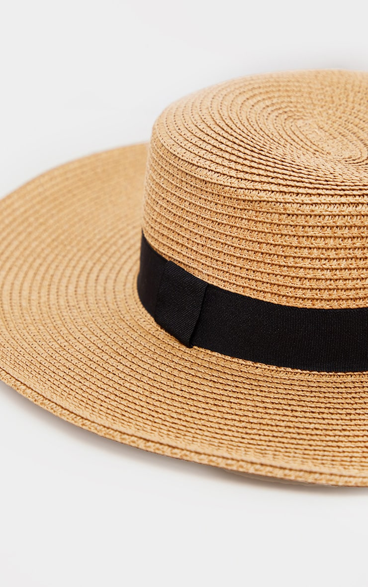 Tan Straw Sun Hat 3