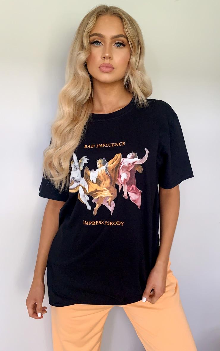Black Bad Influence Cherub T Shirt 1