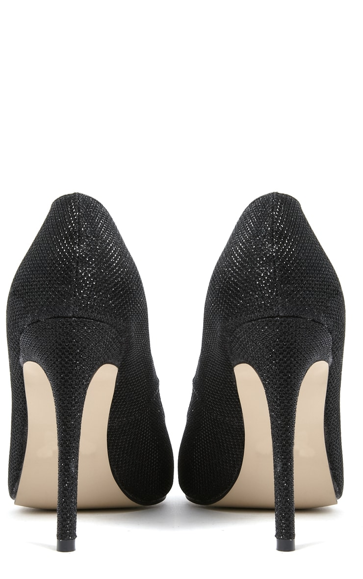 Susie Black Pointed Strap Court Shoes  4