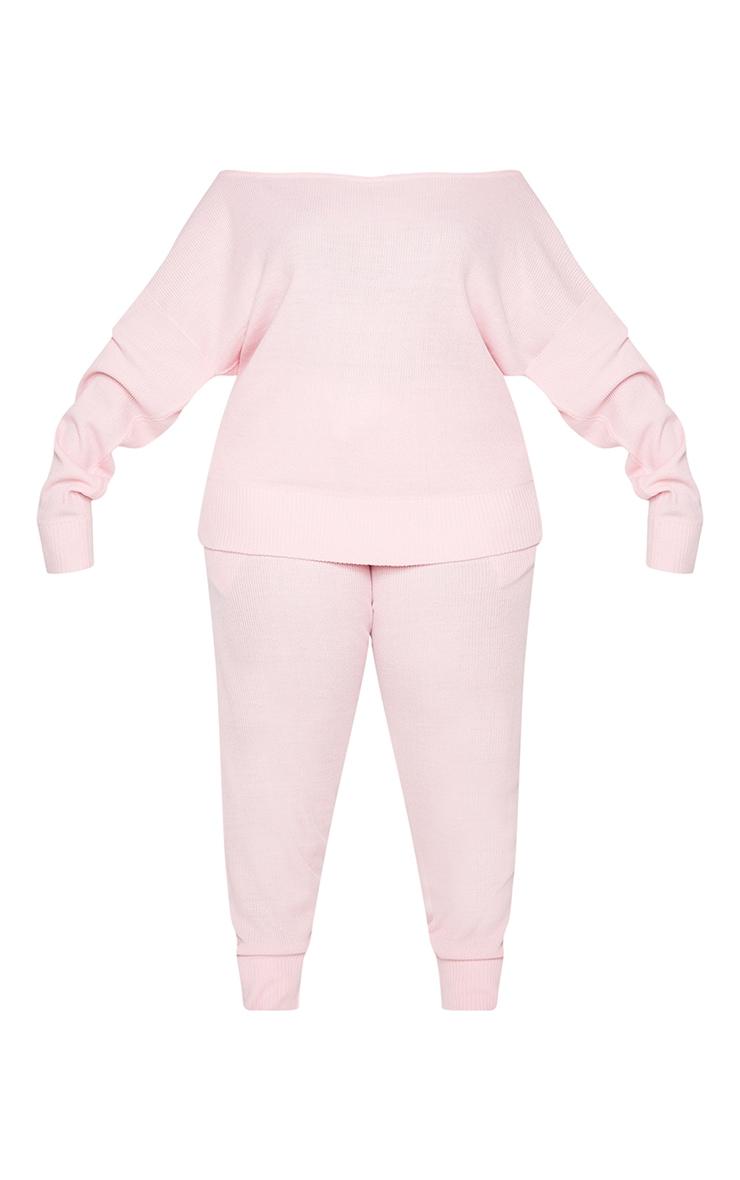 PLT Plus - Ensemble lounge en maille tricot rose 5
