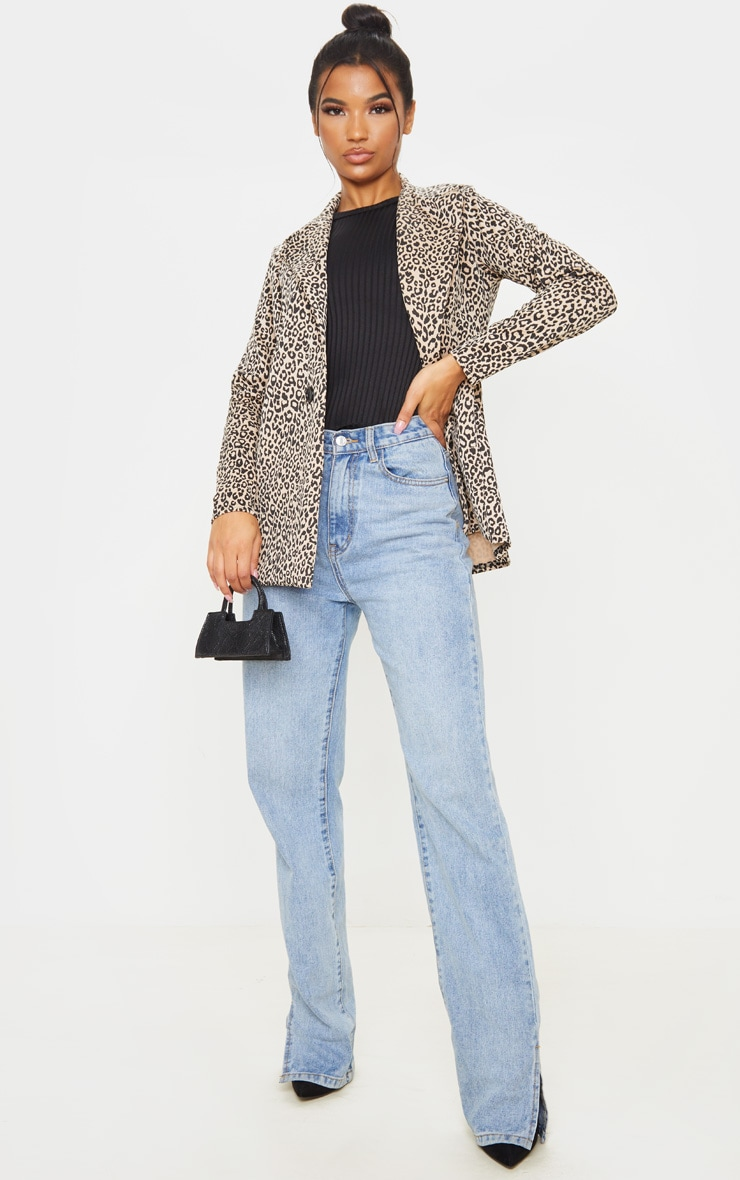 Brown Leopard Boyfriend Blazer 4