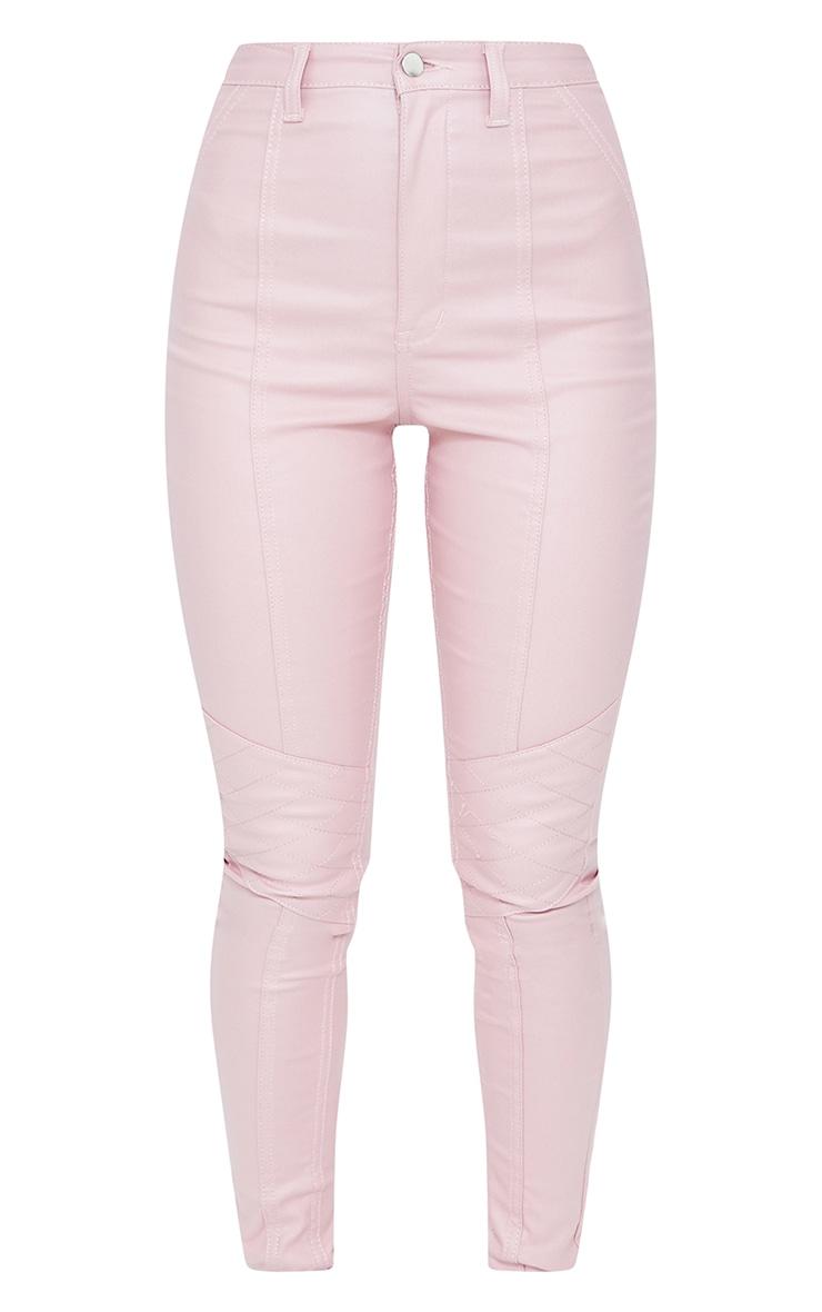 Rose Biker Coated Jeans 5