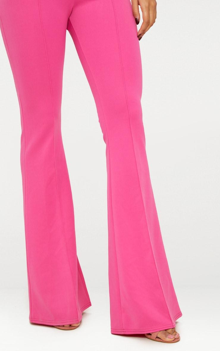 Pantalon taille haute long extrêmement évasé fuchsia 6