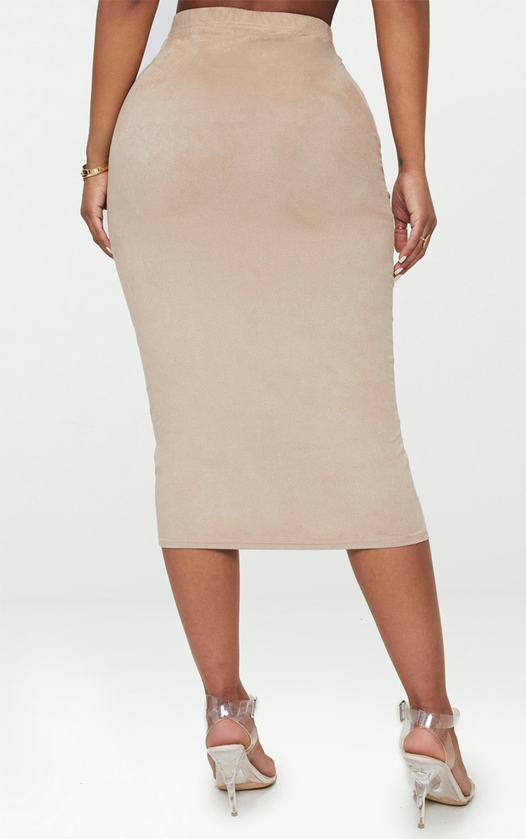 Shape Stone Faux Suede Midi Skirt 4