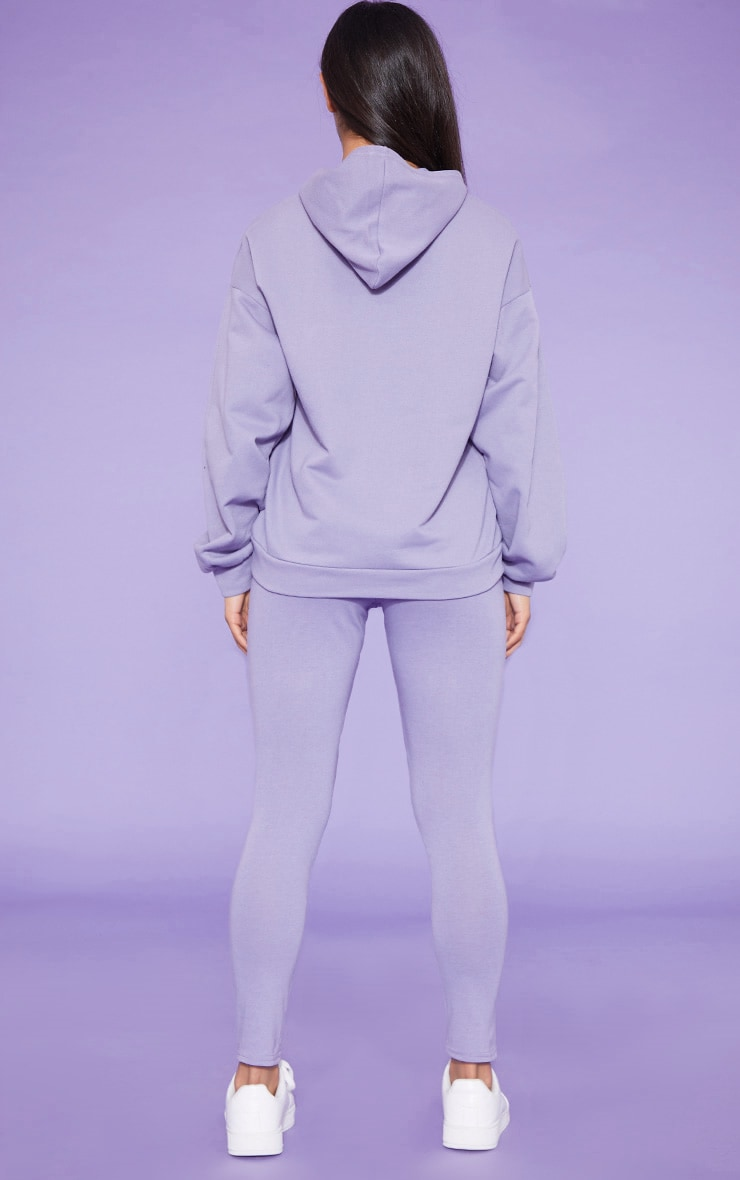 RECYCLED Violet Oversized Hoodie 5