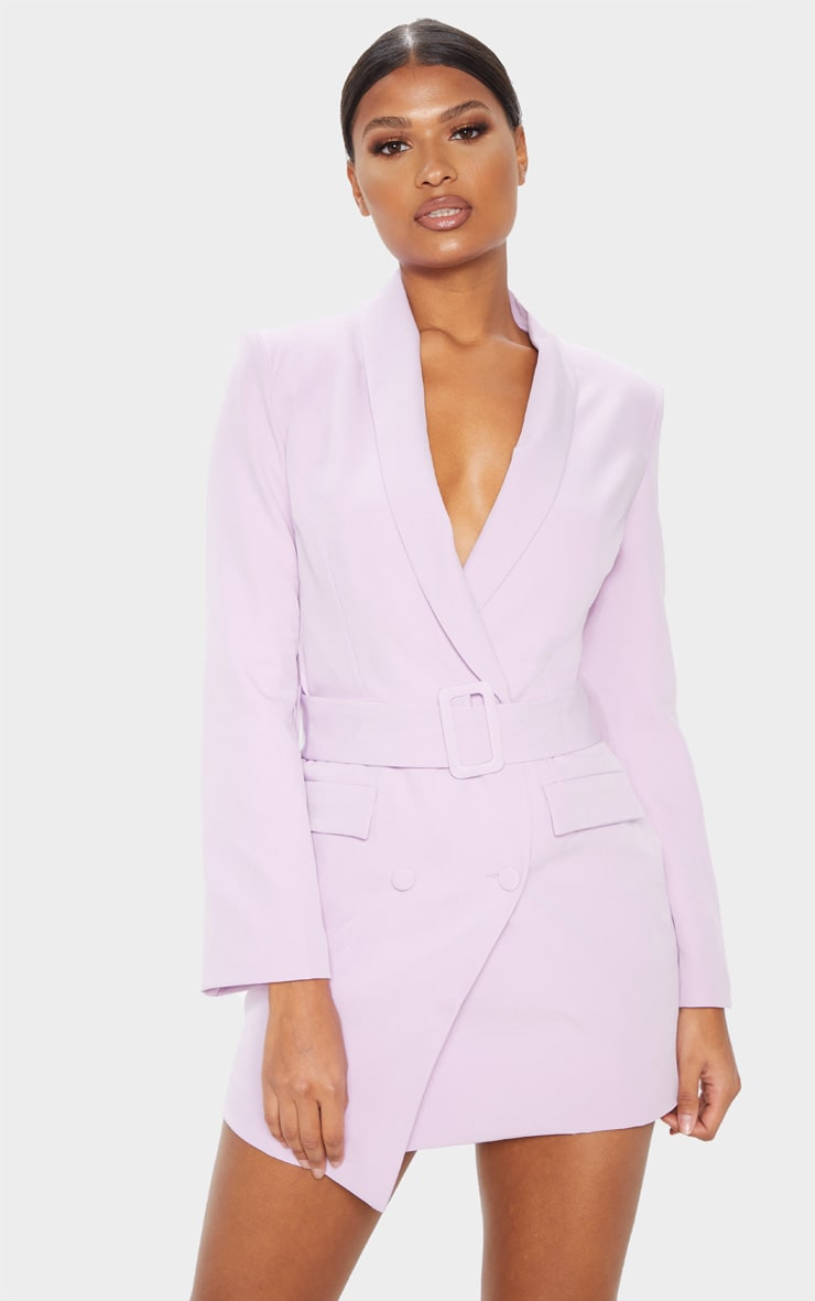 Dusty Lilac Belt Blazer Dress 2