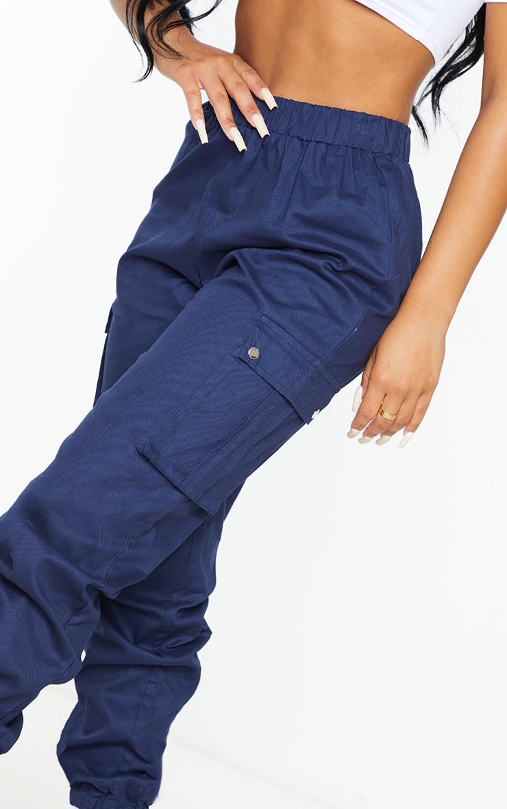 Petite Navy Pocket Detail Cargo Pants 4