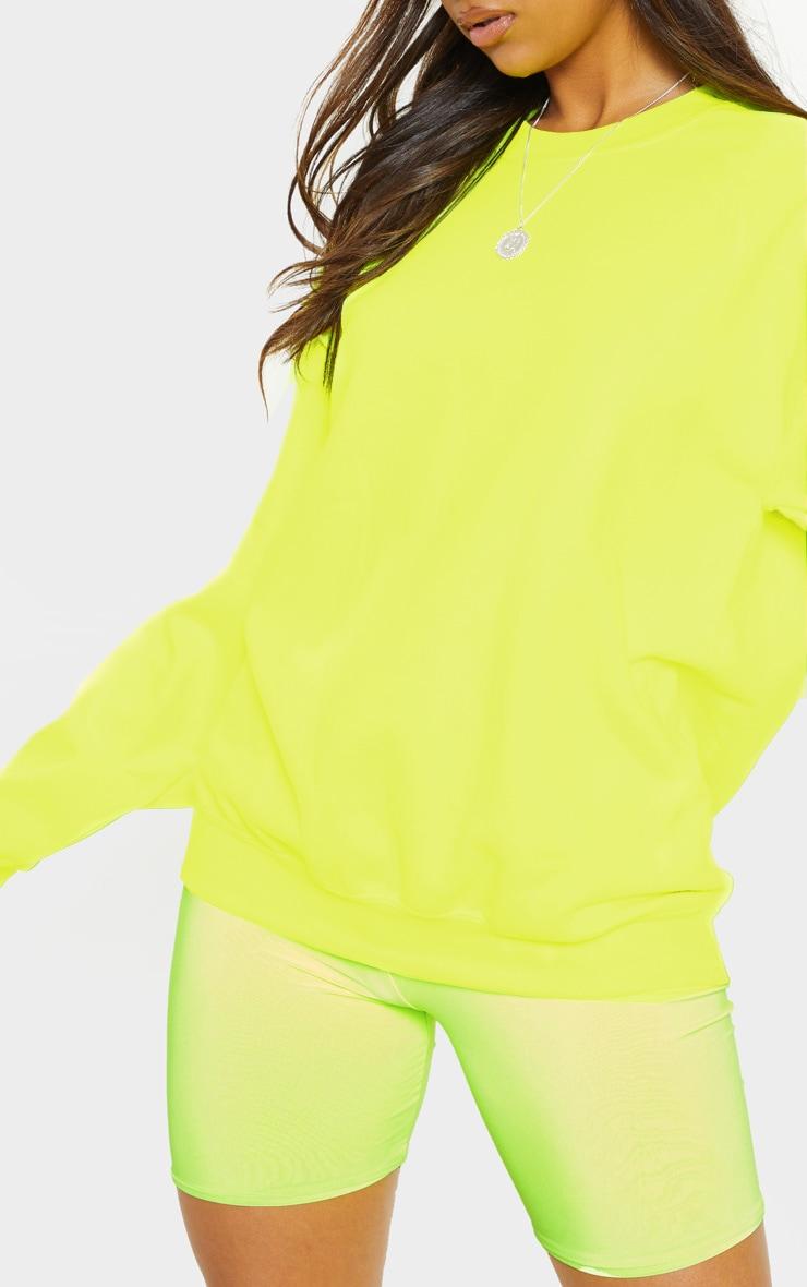 Neon Yellow Ultimate Oversized Sweater 5