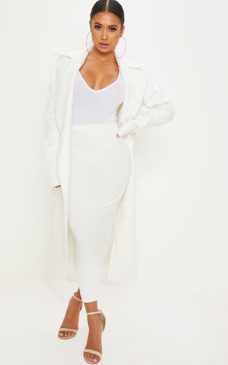 Petite Cream Belted Coat 4
