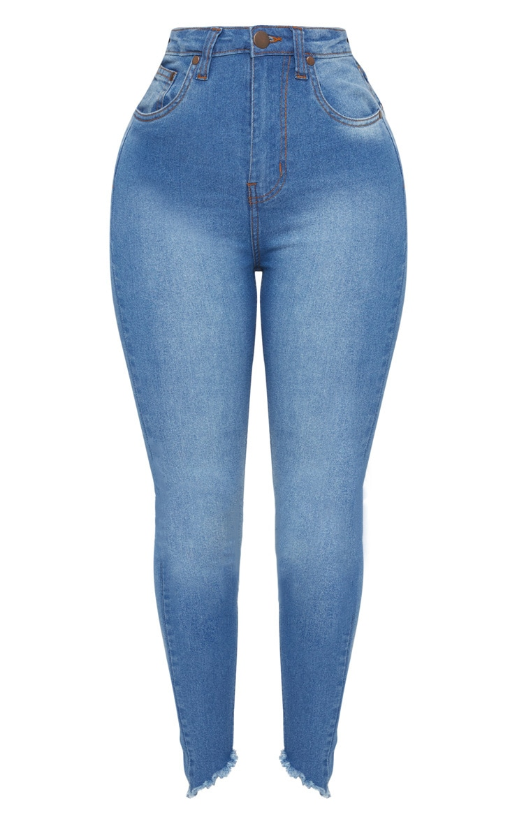 Shape Mid Wash High Waist Skinny Jeans 3