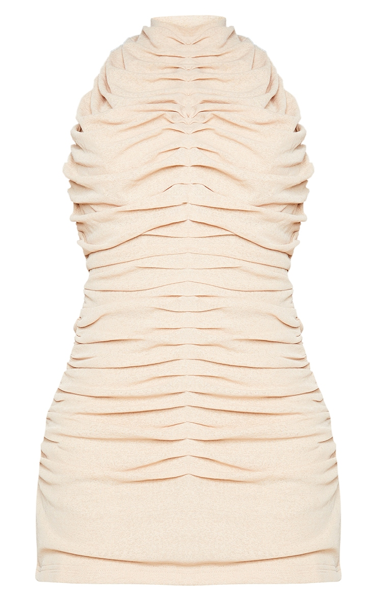 Shape Stone Halterneck Ruched Backless Bodycon Dress 5