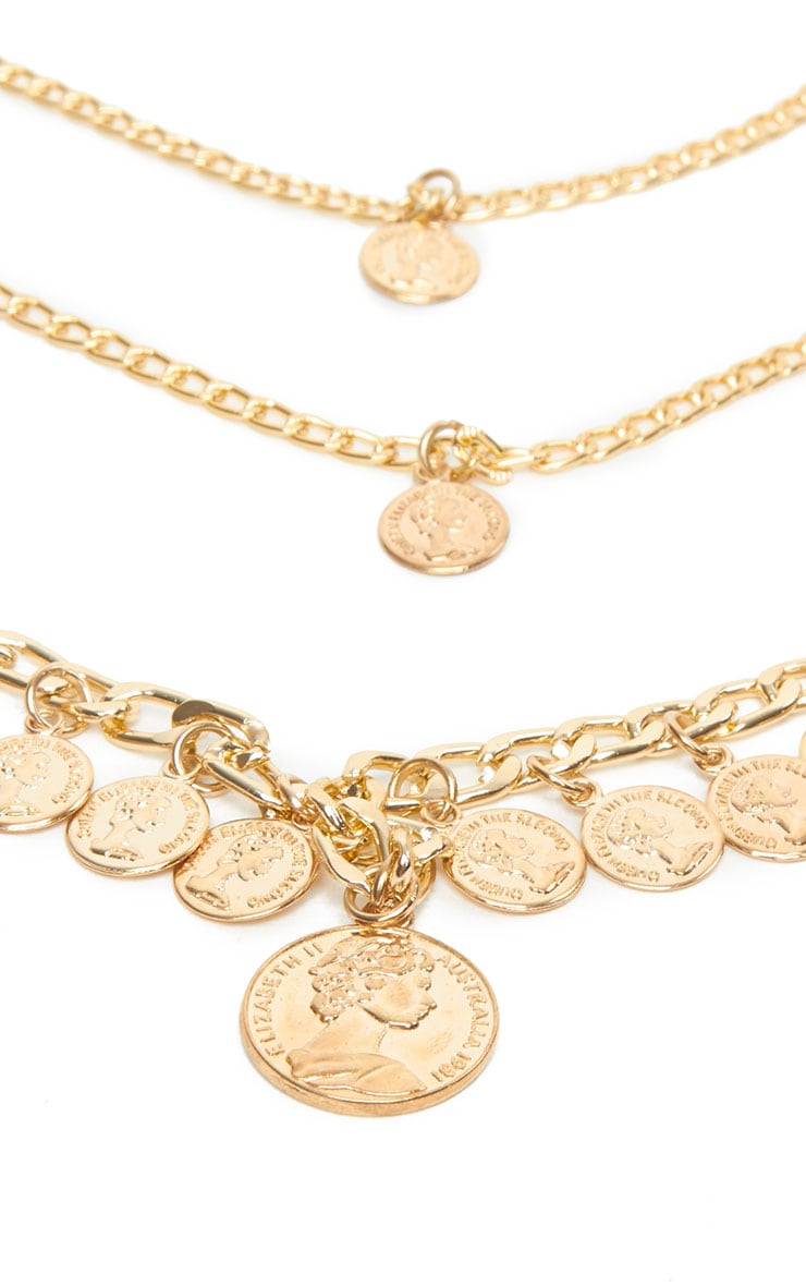 Keyla Gold Layered Coin Necklace 4