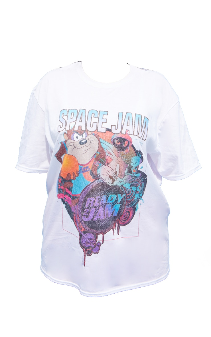 Plus Cream Space Jam Washed T- Shirt 5