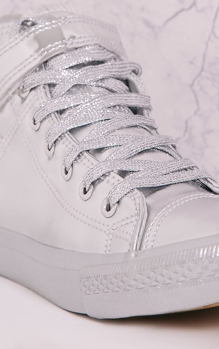 Oona Silver Metallic High Top Sneakers 5