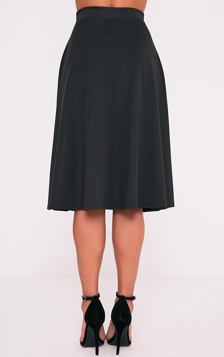 Kasey Black Full A-Line Midi Skirt 4