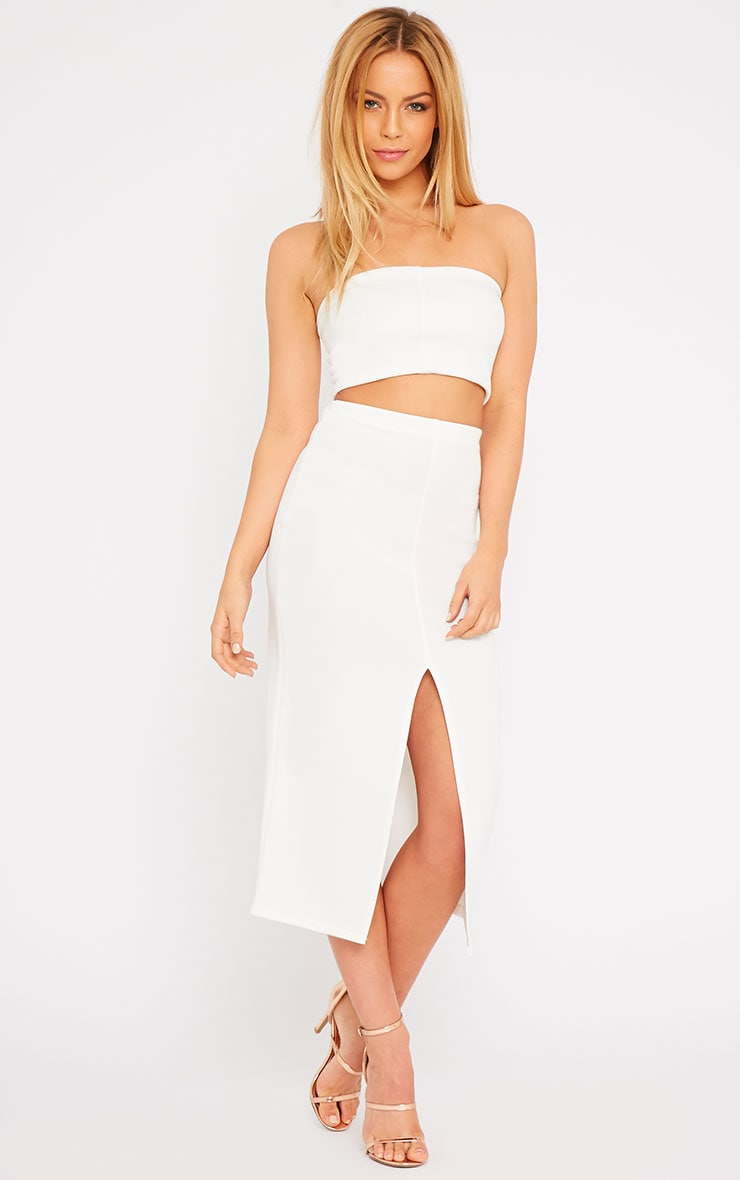 Kaja Cream Scuba Split Skirt  1