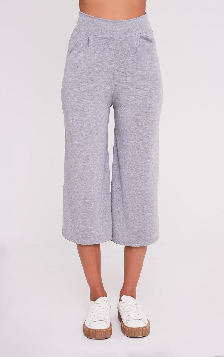 Basic jupe-culotte grise 2