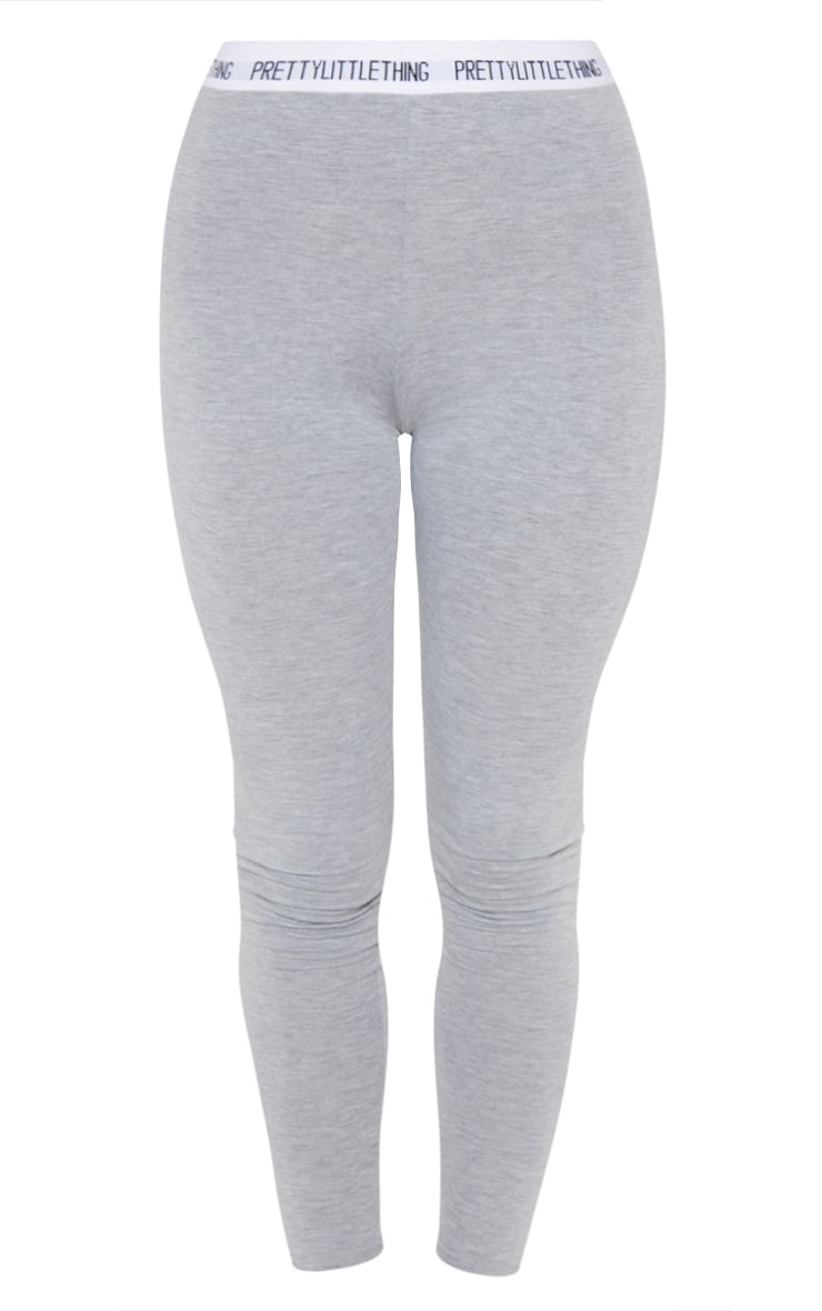 PLT Plus - Legging gris PRETTYLITTLETHING 3