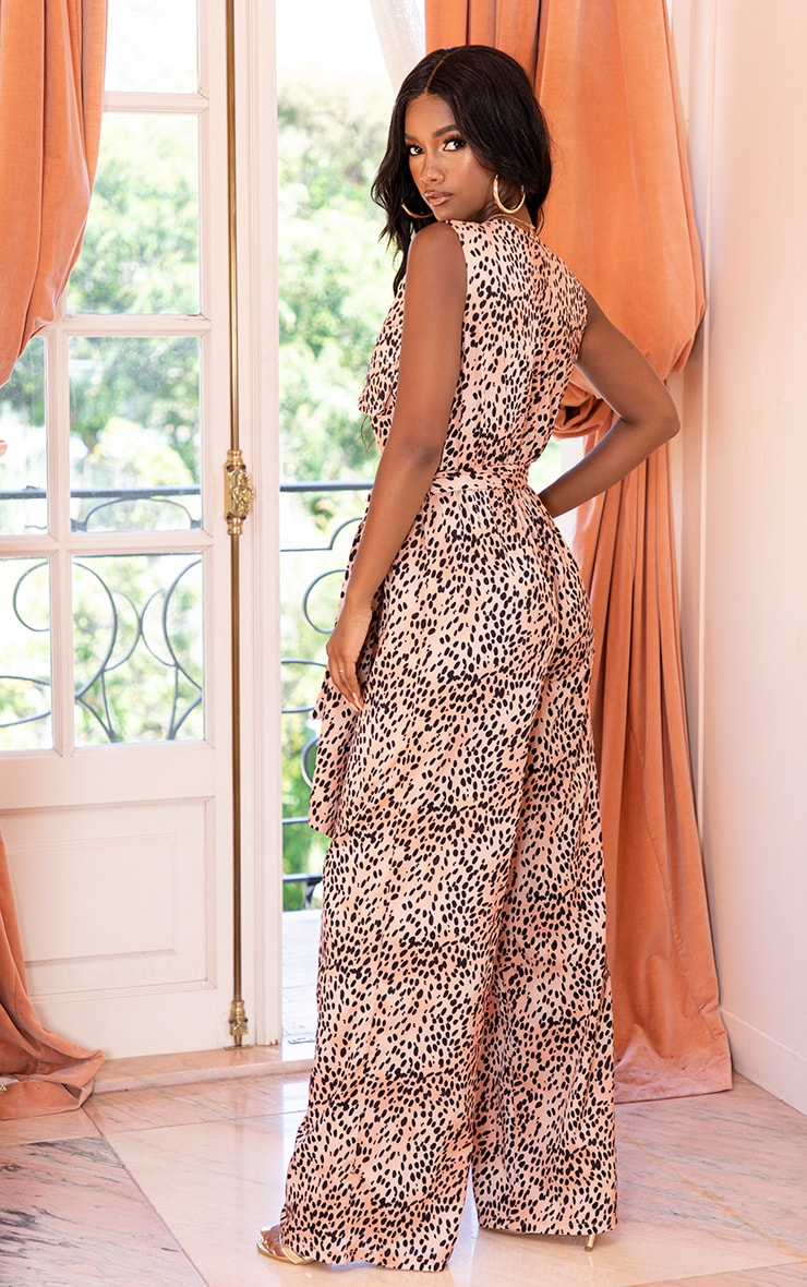 Nude Mixed Polka Dot Jumpsuit 2