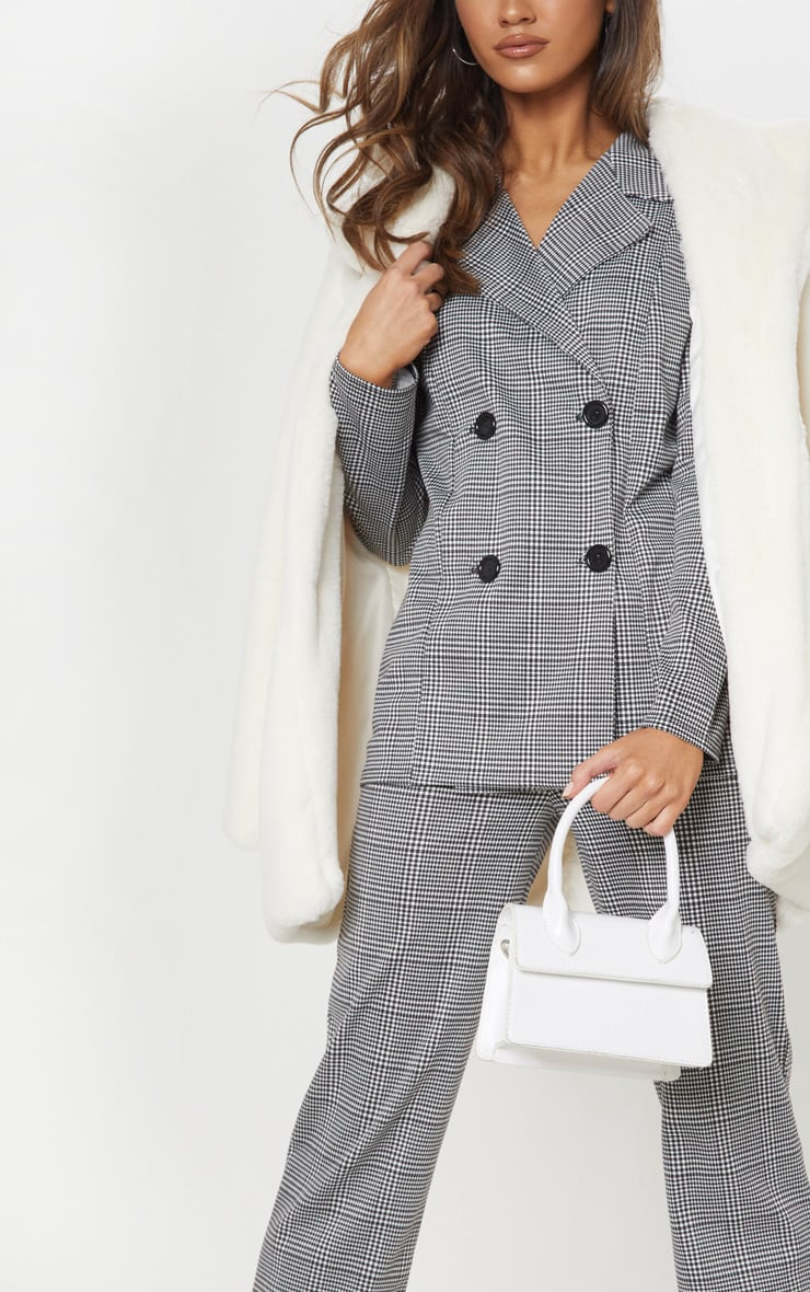 Black Checked Blazer 5