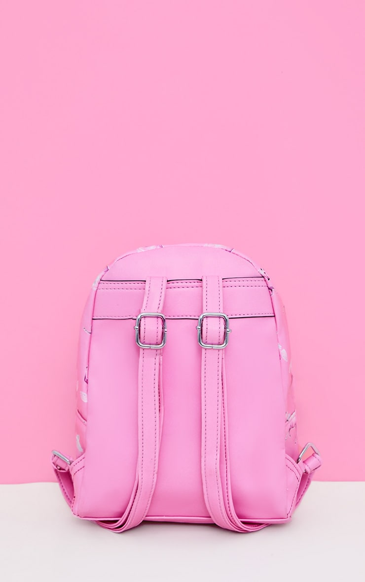 PRETTYLITTLETHING Unicorn Pink PU Backpack 5