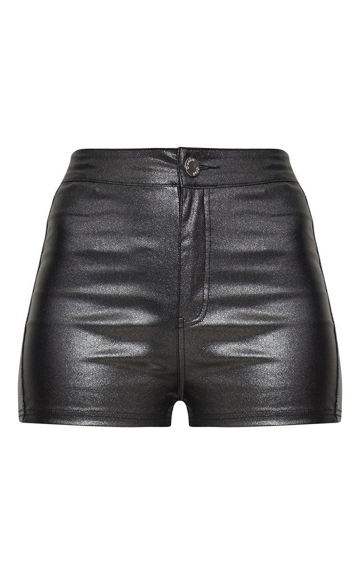 Black Glitter Disco Shorts 3
