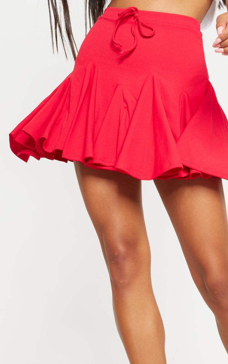 Red Full Hem Mini Skirt 6