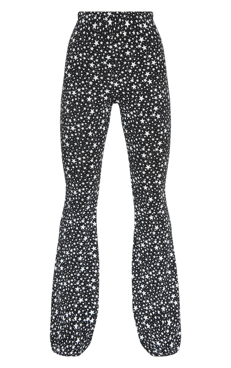 Black Jersey Star Print Flare Trouser 3