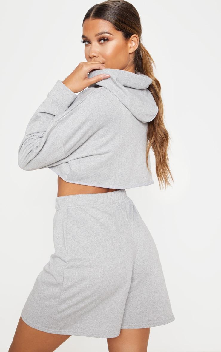 Grey Cropped Hoodie 2