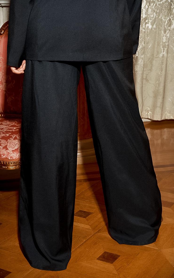 Plus Black Cut Out Detail Wide Leg Trouser 5