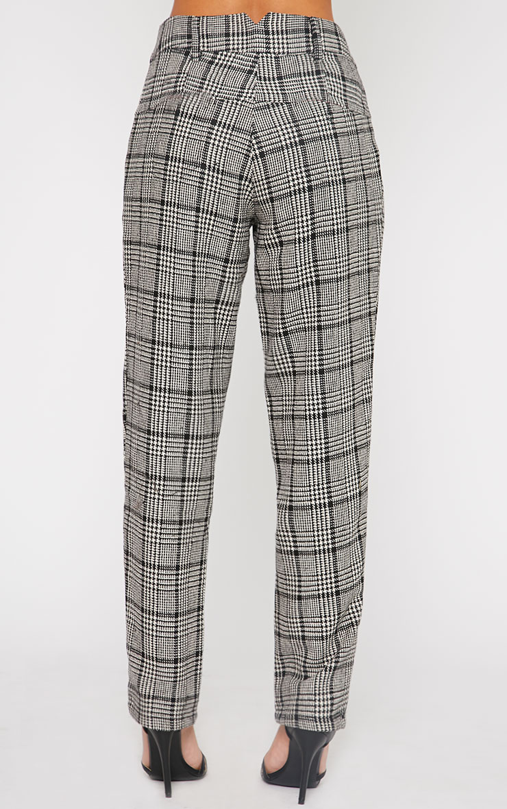 Amelia Dogtooth Tweed High Waist Trousers 6