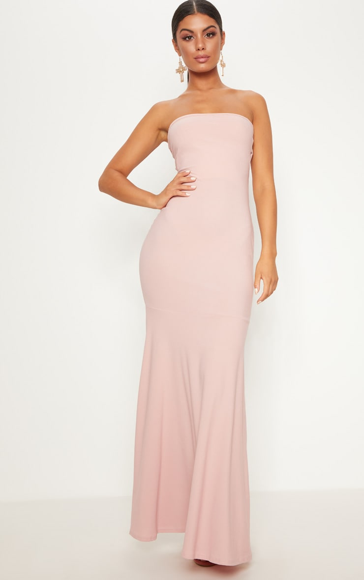 Dusty Pink Strappy Detail Maxi Dress 2