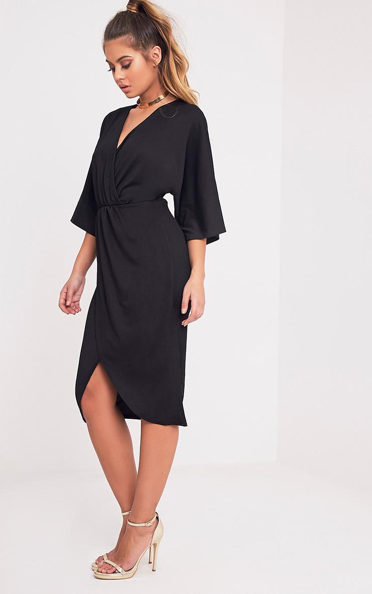 Archer robe midi cape noire 5