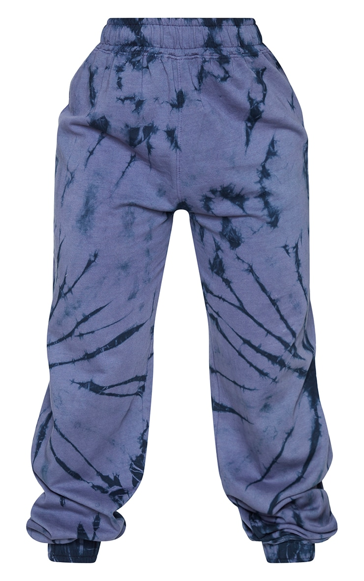 Shape Blue Tie Dye Butterfly Embroidered Joggers 5