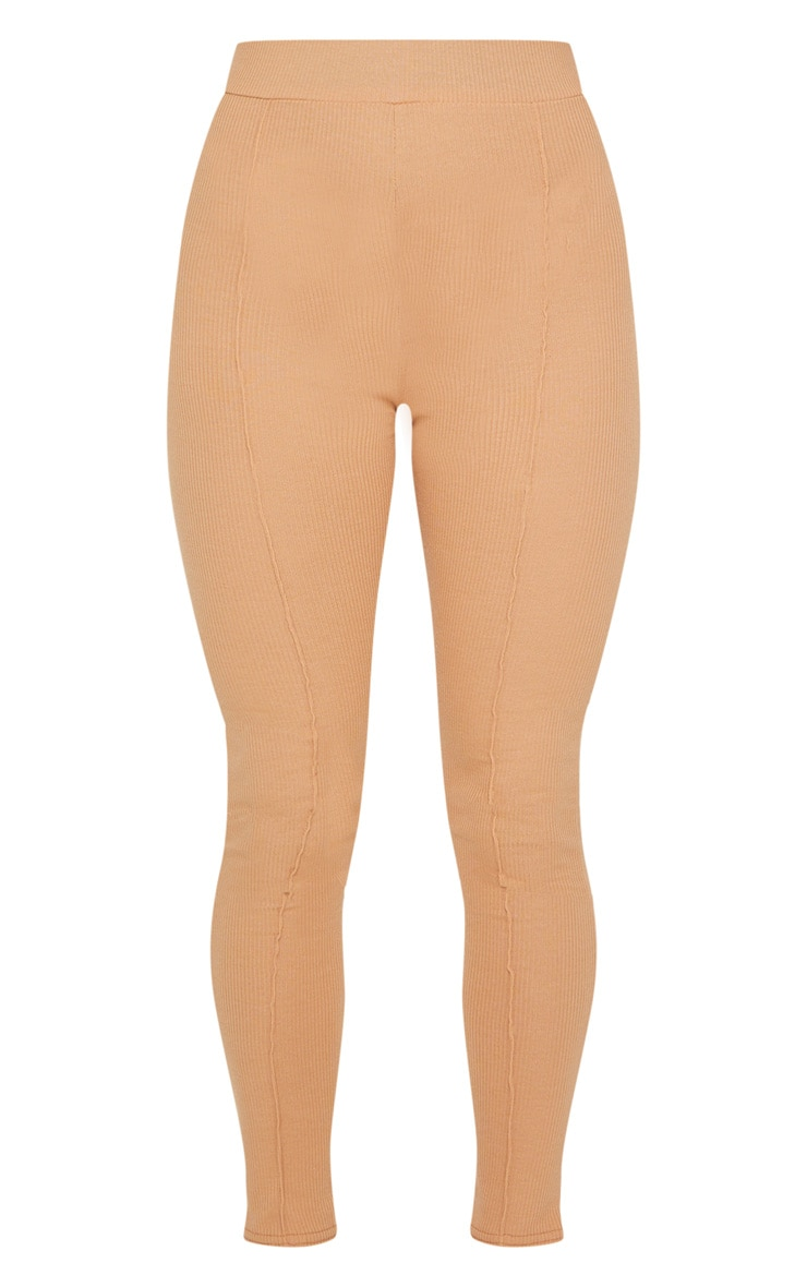 Camel Pintuck Ribbed Legging 5