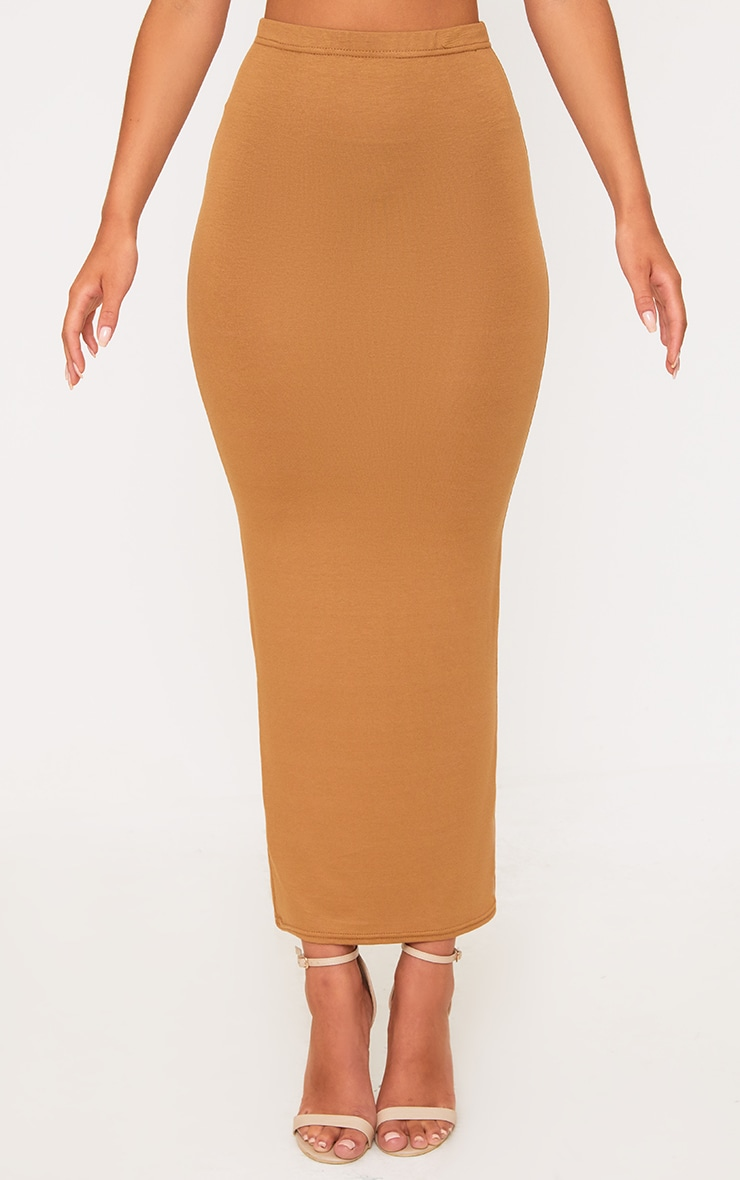 Basic Camel & Taupe Jersey Midaxi Skirt 2 Pack 2