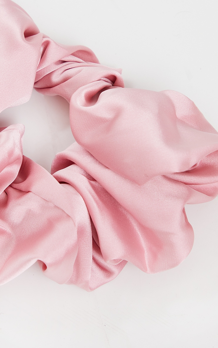 Rose Satin Scrunchie 2