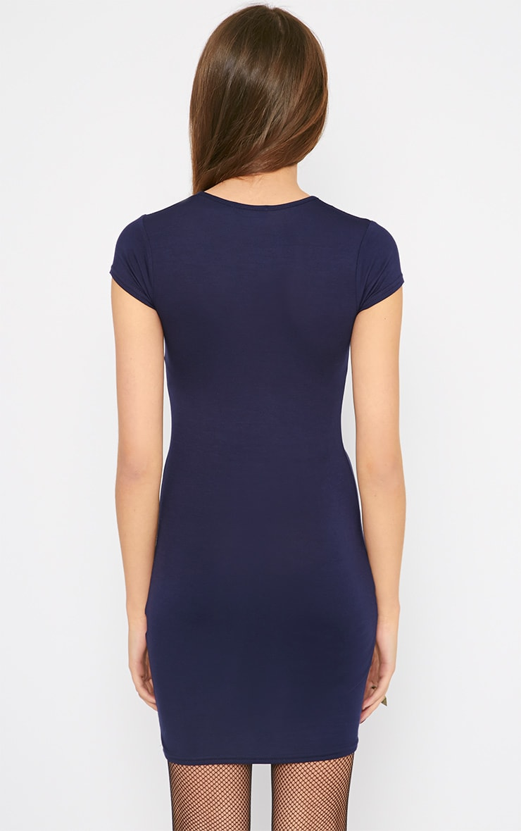 Basic Navy Jersey Dress 2