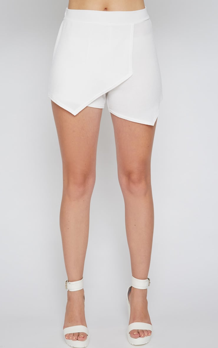 Isobel White Textured Skort  5