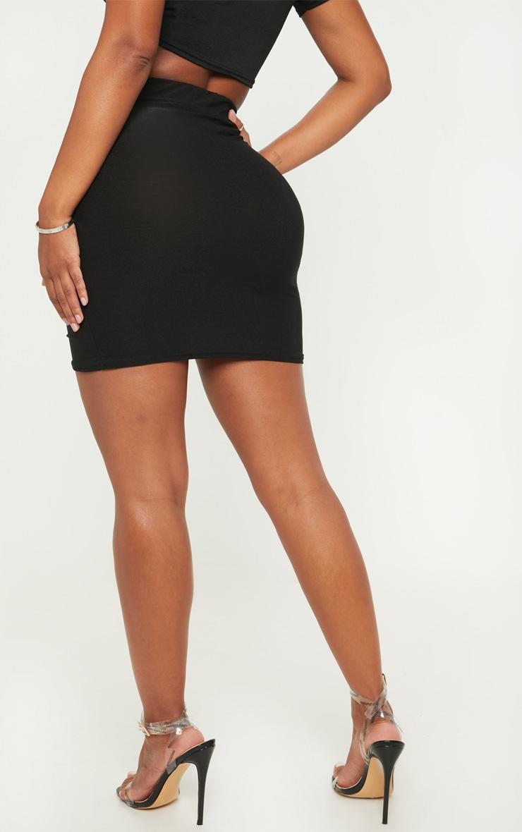 Shape Black Ruched Side Split Bodycon Skirt  4