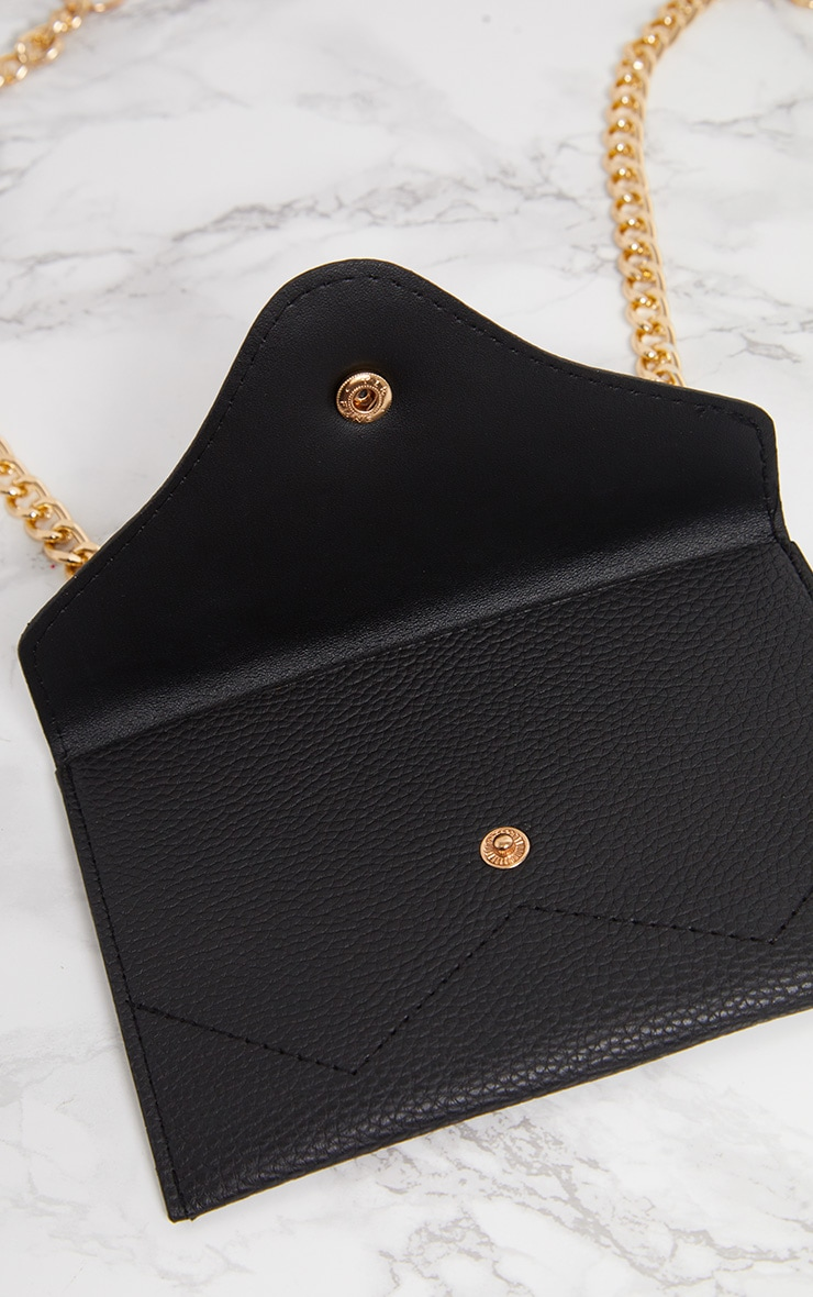 Black Sundial Chain Belted Bum Bag 6