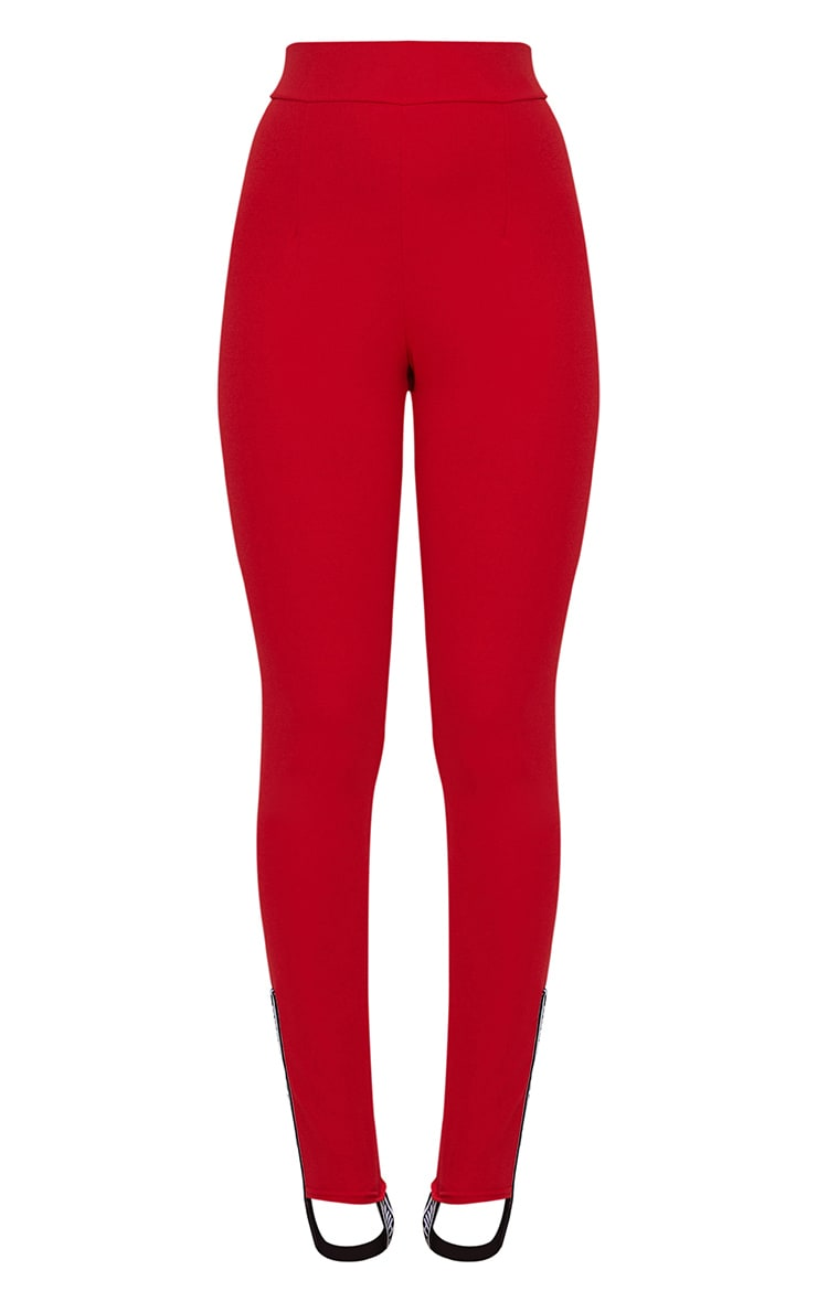 Red Skinny Stirrup Trouser 3