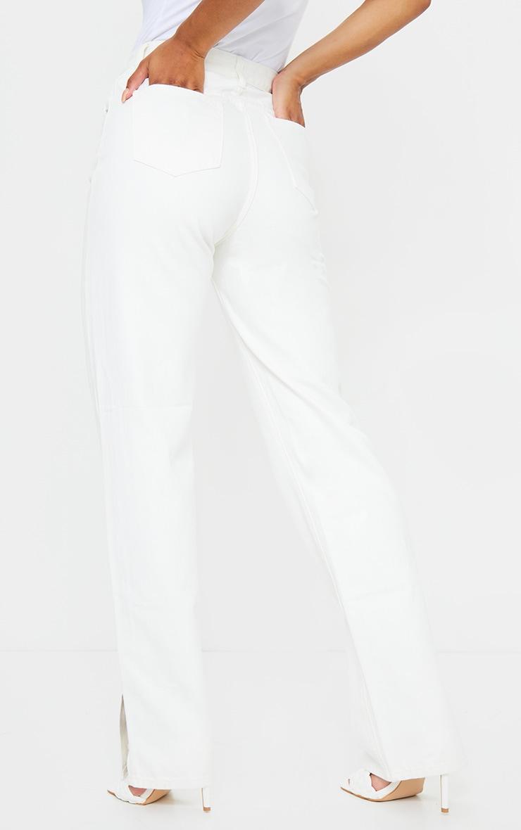 Off White Split Hem Jeans 3