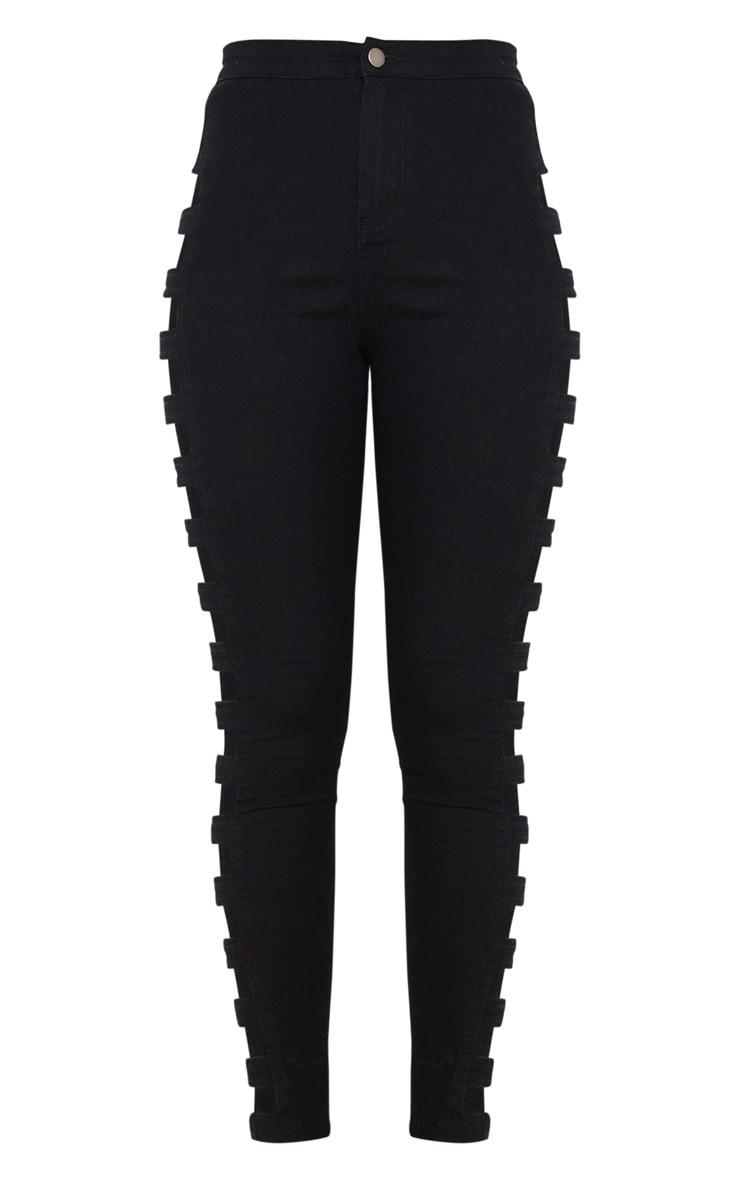 Black Side Cut Out Jeans 5