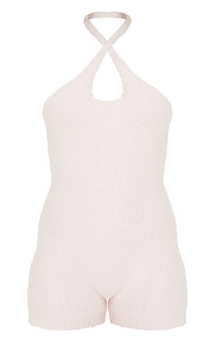 Baby Pink Premium Fluffy Cross Front Playsuit 5