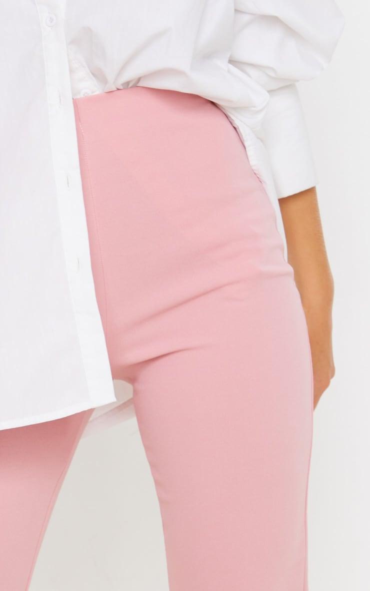 Pastel Pink Slim Leg Crepe Pants 5